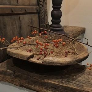 Oud houten schaaltje leuk voor op tafel | Benard's Woonaccessoires