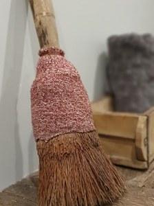 authentieke Chinese houten stoffer een uniek item voor in een landelijk interieur