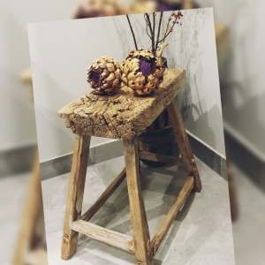 oud houten bankje voor een stoer en landelijk interieur | Benard's Woonaccessoires