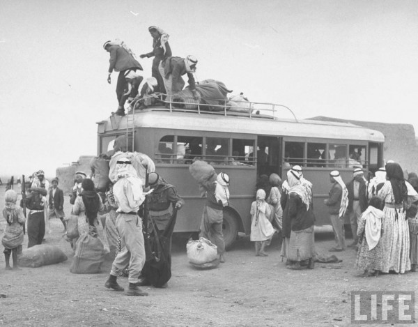 Arabs evacuating the village of Zenin. May 1948. John Phillips
