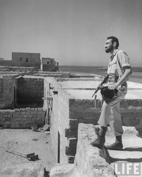 Hagannah soldier. June 1948. Frank Scherschel
