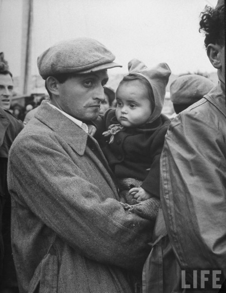 Jewish Refugees from illegal ship. 1948. Dmitri Kessel