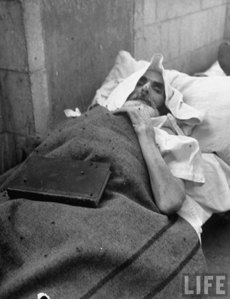 An injured Jew in Jerusalem. June 1948. John Phillips