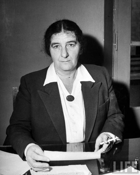 Golda Meir.