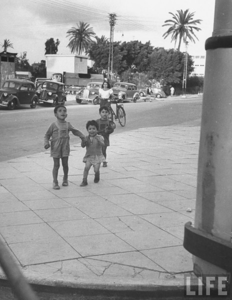 Hurrying toward air raid shelter in Tel Aviv