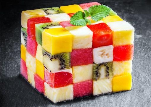Five fresh fruit salad by BeNatural Madrid