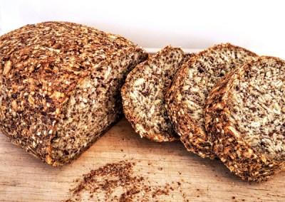 Pan integral sin gluten de semillas