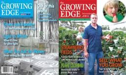 Growing Edge magazine covers