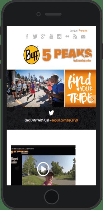 5 Peaks race detail on mobile