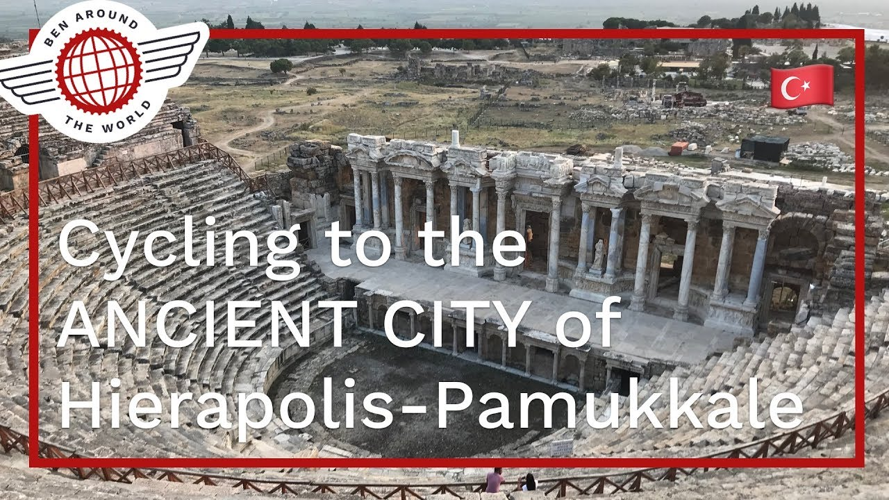 Cycling to the ANCIENT CITY of Hierapolis Pamukkale