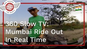 360 Slow TV: Full Cycle Out of Central Mumbai
