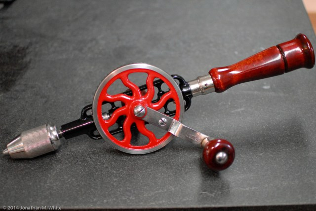 Craftsman hand drill. It seems identical in every way to a Millers Falls 2A.