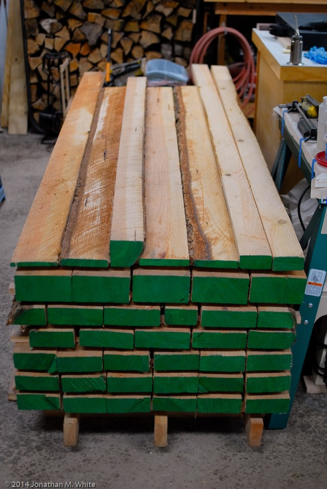 My bench lumber.