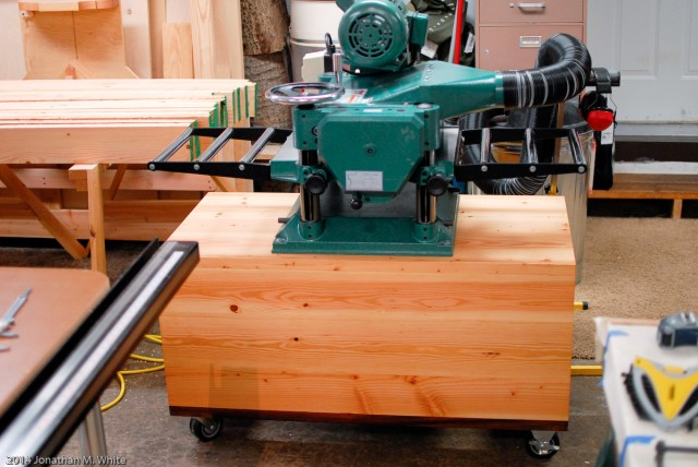 My planer on the cart that I built for it.