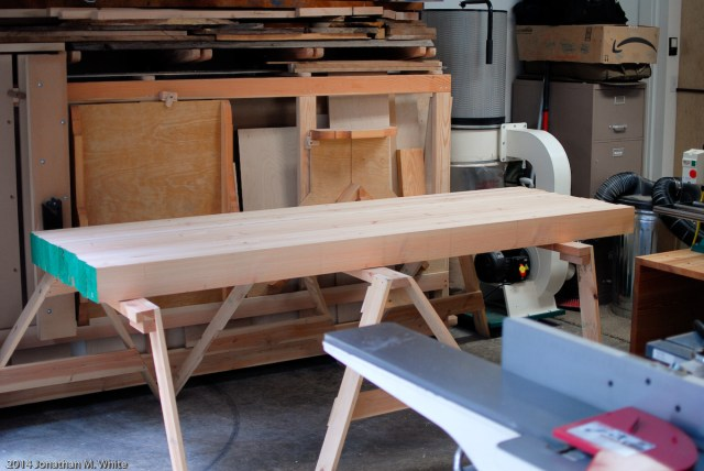 A beefy bench top in the making.