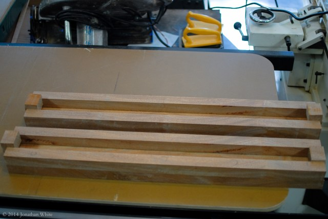The pieces ready to be glued in.