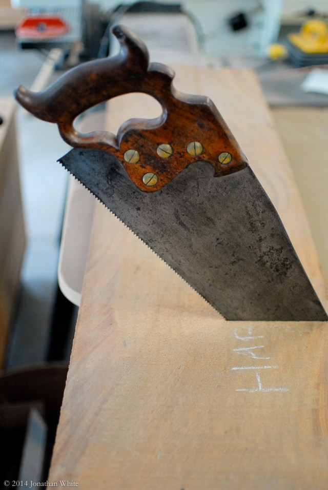 I finished the cut with a disston handsaw that needs sharpening.