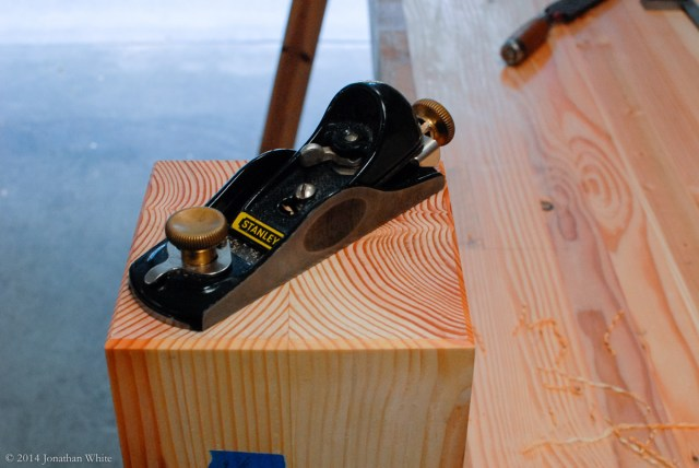 I added a chamfer to the bottom of the legs with a sharp block plane.