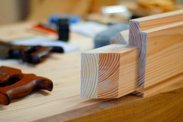 I relieved all the edges with a block plane to make the tenons easy to insert.