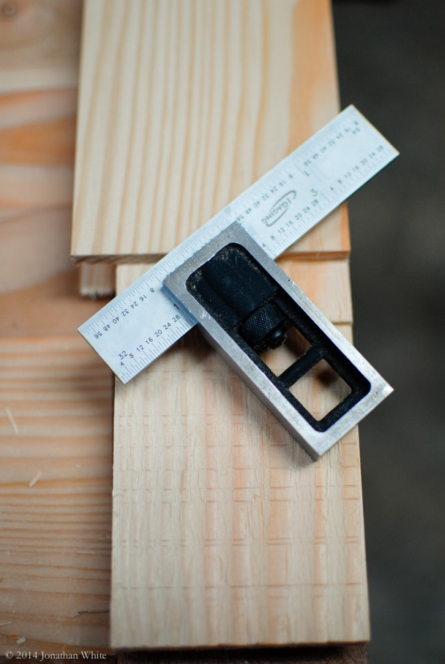 "An adjustable square set to 1""."