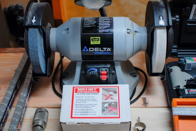 The Delta bench grinder and the A-Line-It basic kit.