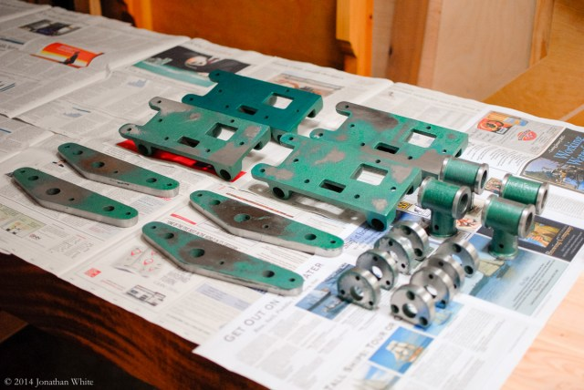 All my vise parts ready for paint.
