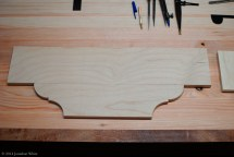 Finished face vise chop template.