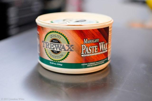 Trewax Mahogany Paste Wax.