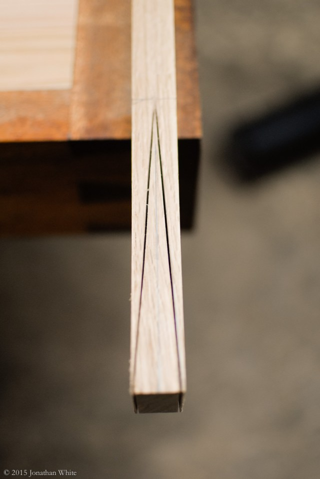 I sawed as far as the spine on the dovetail saw would allow.