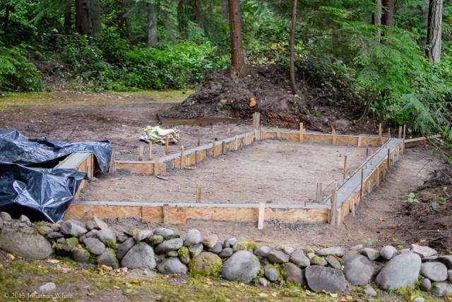 Not a drop of rain all summer, until I pour concrete that is!
