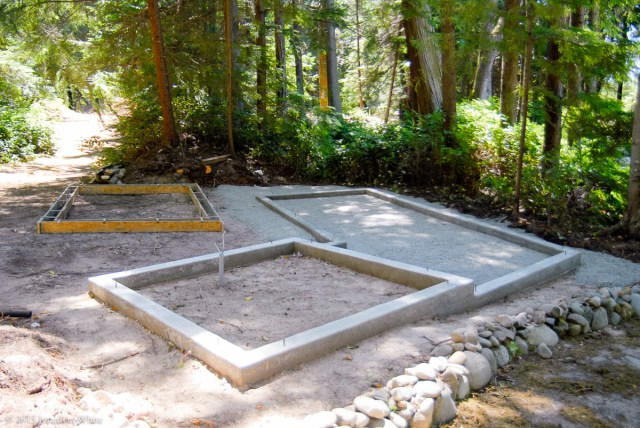 I also added gravel around the outside of the coop to make it a little nicer to walk around in all weather.