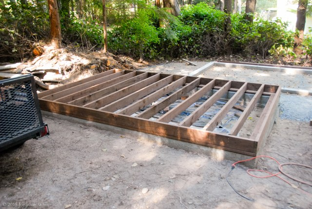 """I used 2x6 joists, placed 12"""" on center."""