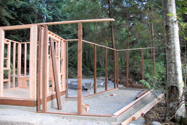 The back walls going up.