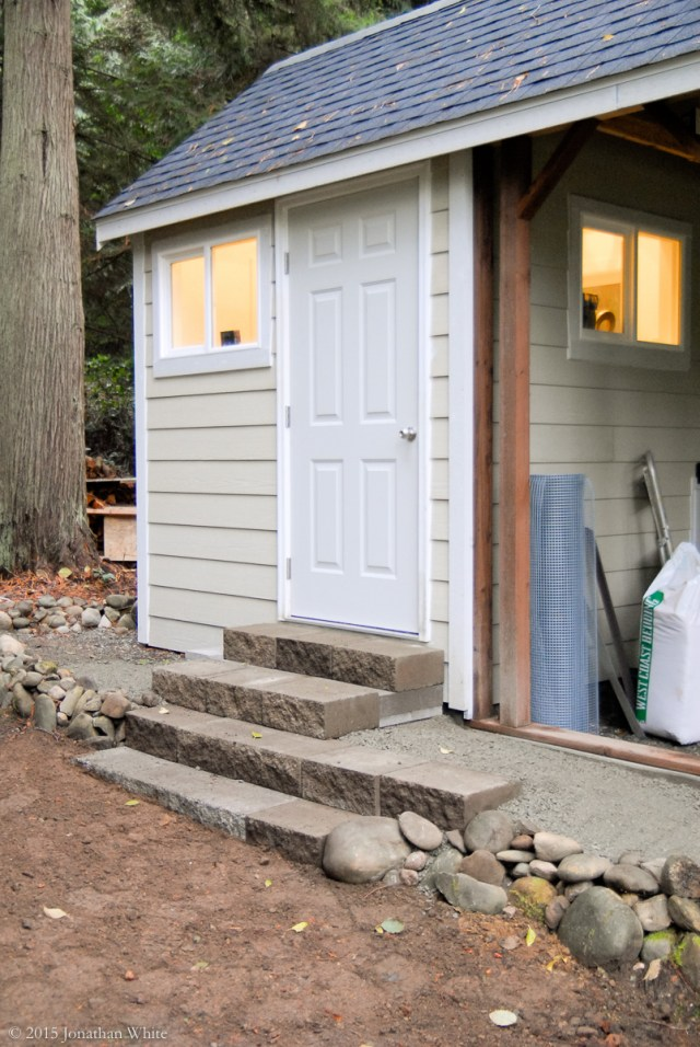 I rebuilt the stone steps and extended them up to the coop door.