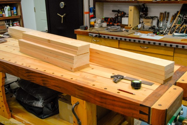 No. 1 construction grade 2x6s and 2x8s jointed and planed.