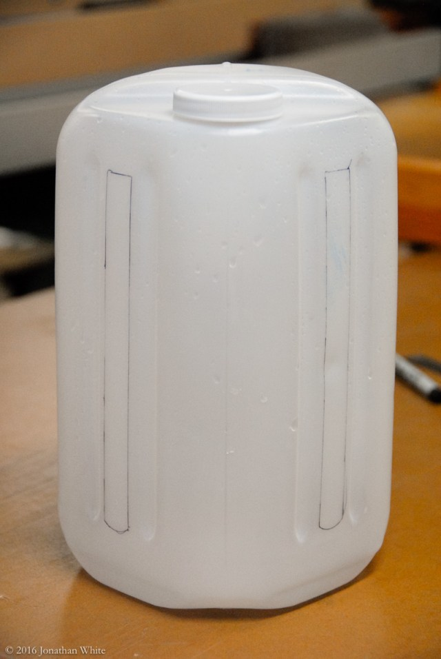 These are the only two really flat spots on the milk jug.