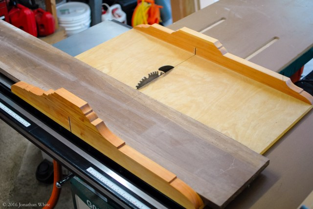 Cutting the board into three 24-inch pieces.
