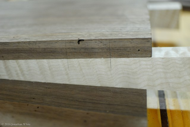 I added some pencil alignment marks to aid in glue up.