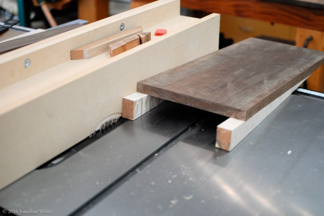 Then I made the rabbet cut on the edge of the ramp.