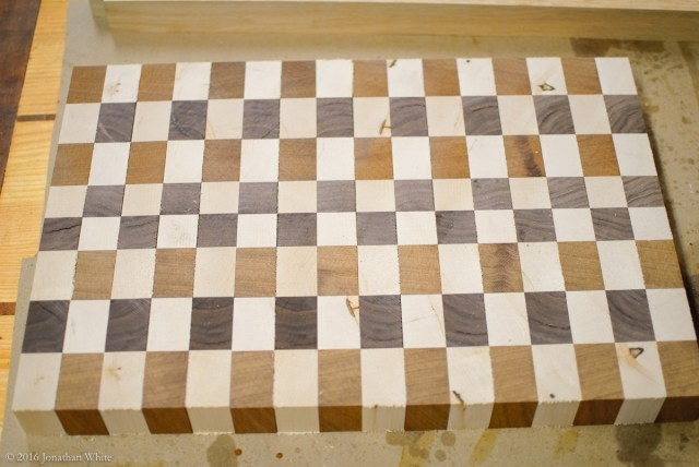 Flip every other strip to create the pattern. You can then move things around to try to put all the defects on one side of the board.