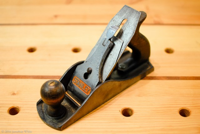 The Stanley No. 4½ (Jumbo) smoothing plane. Mine is an English version.