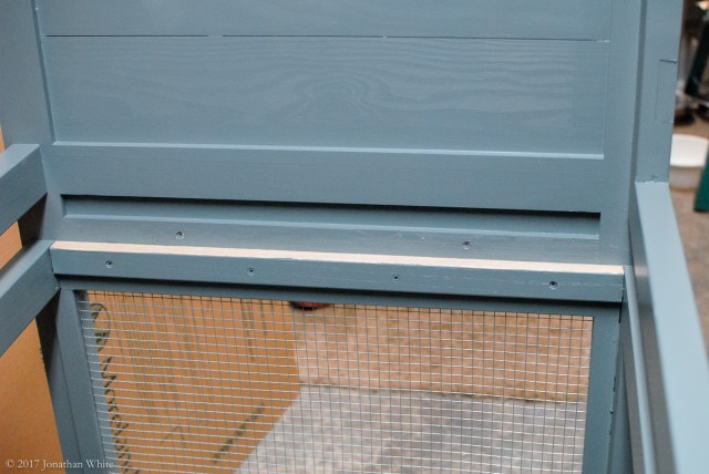 I also applied some wax to the side of the hutch where the drawer makes contact.