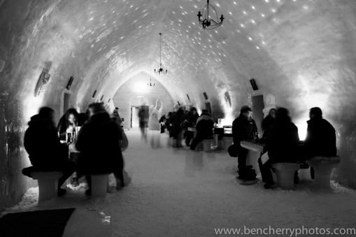 Ice Hotel in monochrome-12