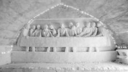 Ice Hotel in monochrome-2