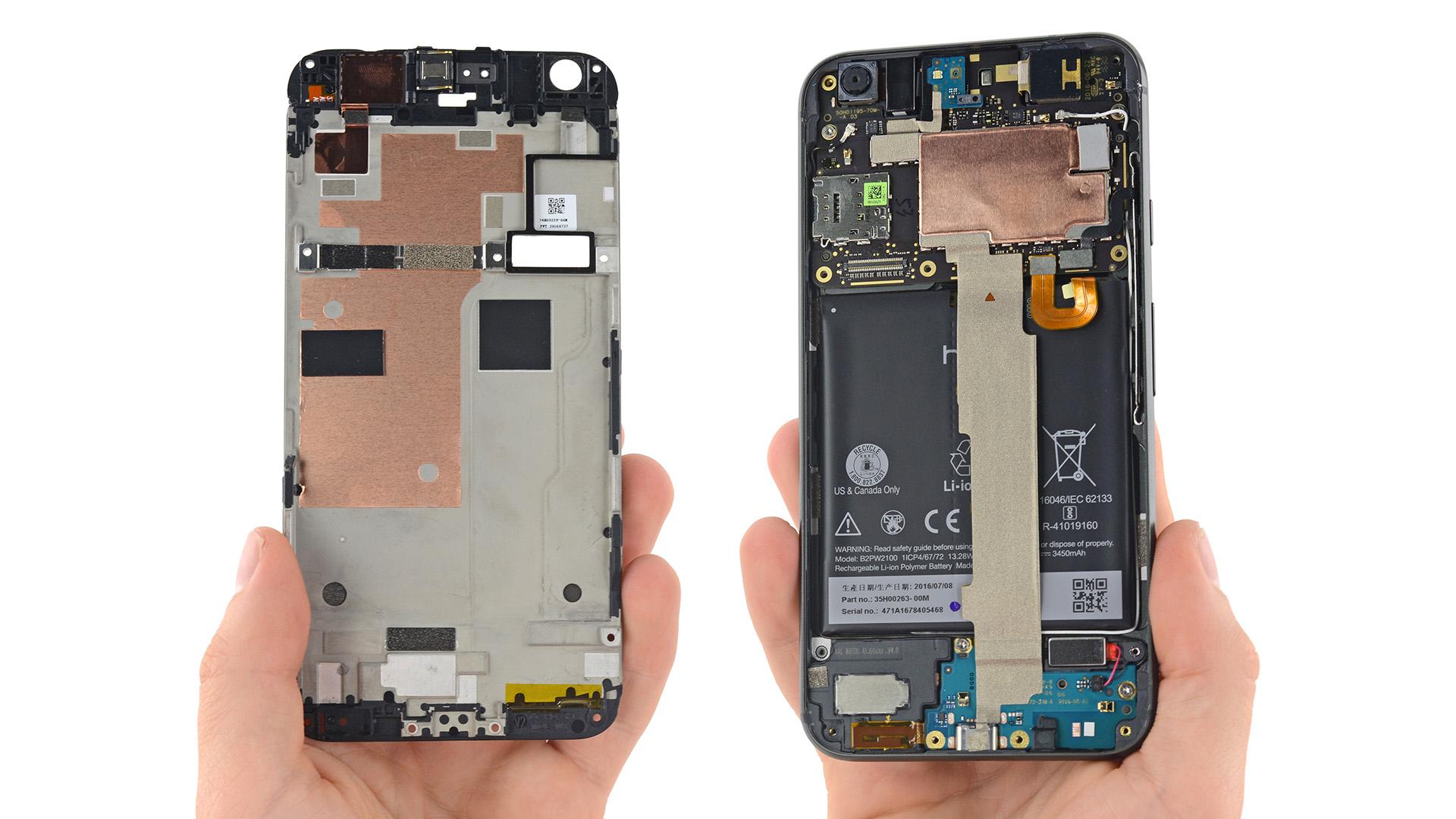 只有電池可見 HTC,Google Pixel XL 拆解完成