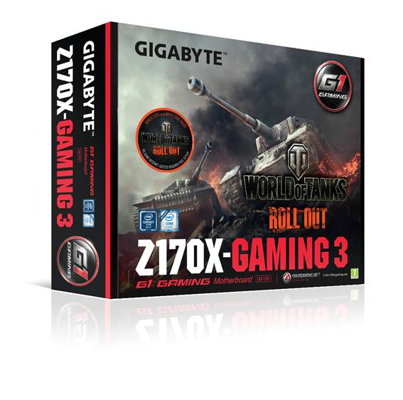 Exclusiva asociación de placas base GIGABYTE con Wargaming World of Tanks