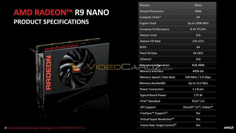 Se confirman 4096 Stream Cores para la Radeon R9 Nano - benchmarkhardware 1