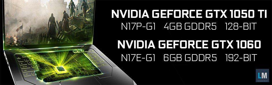 Se filtran las versiones portátiles de GTX 1060 y GTX 1050 Ti