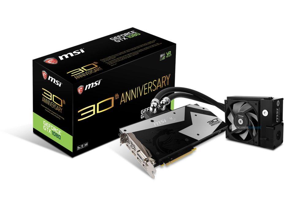 MSI celebra su 30 aniversario con un nuevo modelo de GTX 1080