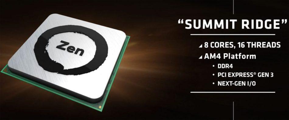 Se filtran las especificaciones de los procesadores AMD Zen Summit Ridge